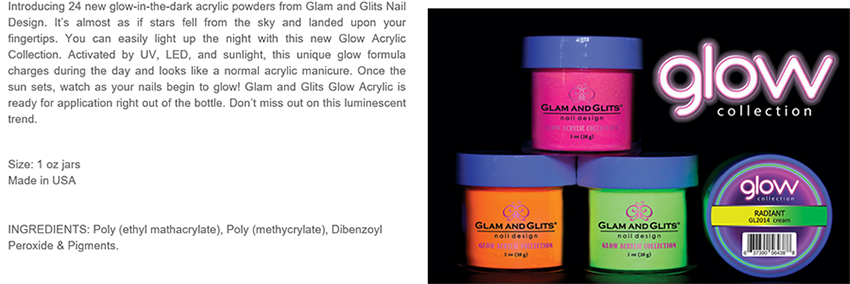 Glam and Glits Powder Glow Acrylic Powder
