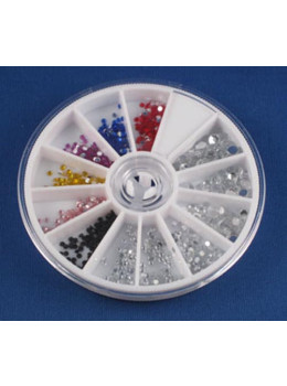7 Color Mix Size Rhinestones Wheel