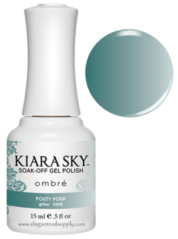 Kiara Sky Ombre Color Changing Gel Polish  POUTY POSH - G838