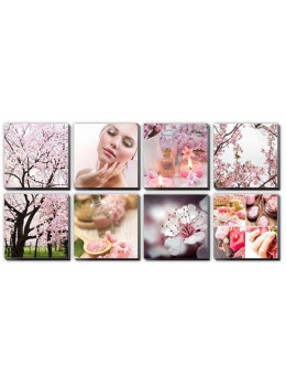 Canvas Mural PINK CHERRY BLOSSOM