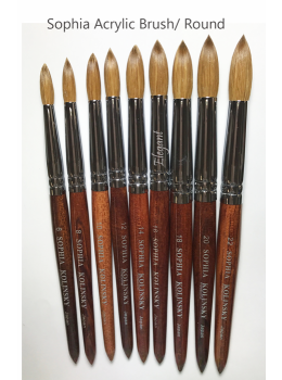 SHOPHIA Red Wood Kolinsky Acrylic Nail Powder Brush