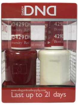 DND Gel Polish BOSTON UNIVERSITY RED