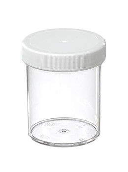 Plastic Jars with White Plastic Lid