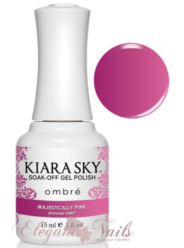 Kiara Sky Ombre Color Changing Gel Polish MAJESTICALLY PINK - G807