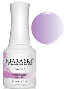 Kiara Sky Ombre Color Changing Gel Polish STORMY CLOUD - G831