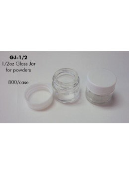 Glass Jar with White Lid