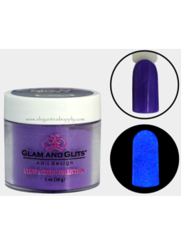 Glam and Glits Glow Acrylic Powder GL2023 ULTRA VIOLET