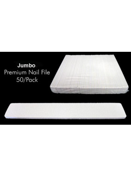 Jumbo Premium White Nail File  - Pack/50 PCS