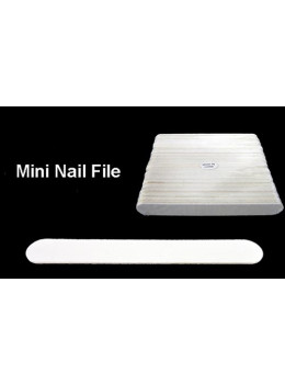 White Mini Nail File