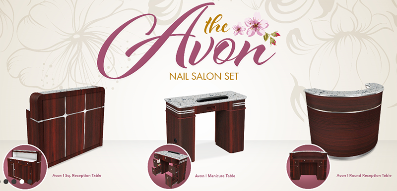 Triple Manicure Table