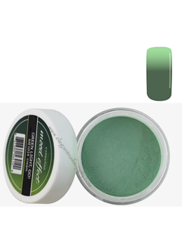 Glam and Glits Mood Effect Acrylic Powder GREEN LIGHT, GO!