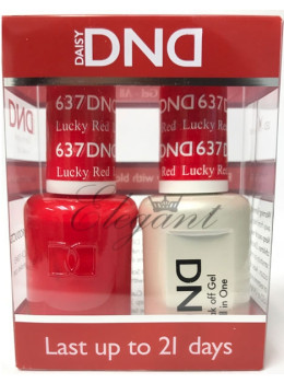 DND Gel Polish LUCKY RED 637