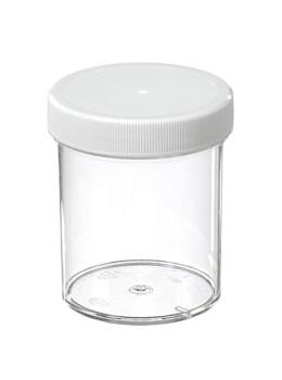 Plastic Jars with White Plastic Lid