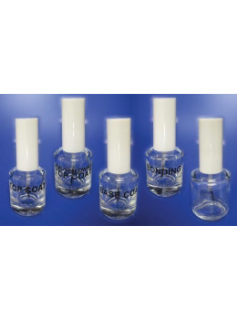 Empty Clear Glass Polish Bottle - 0.5 oz