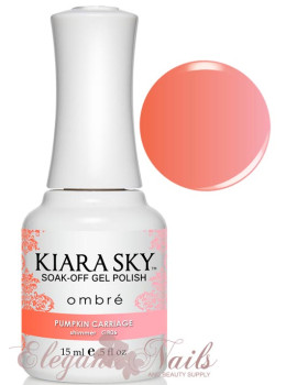Kiara Sky Ombre Color Changing Gel Polish  PUMPKIN CARRIAGE - G806