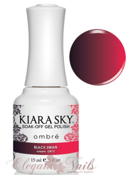 Kiara Sky Ombre Color Changing Gel Polish BLACK SWAN - G812