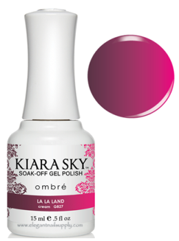 Kiara Sky Ombre Color Changing Gel Polish LA LA LAND - G827