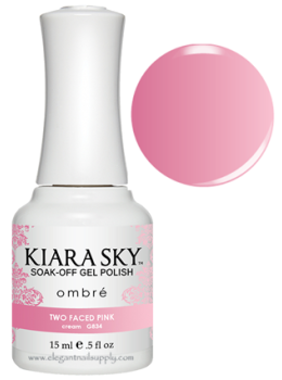 Kiara Sky Ombre Color Changing Gel Polish TWO FACED PINK - G834