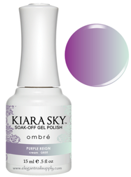 Kiara Sky Ombre Color Changing Gel Polish PURPLE REIGN - G835