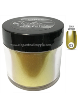 Eclipse Cromatico Chrome Nail Pigment Powder GOLD Large Size Refill