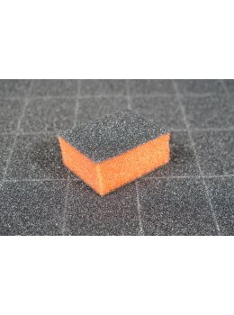 Dixon Mini Nail Buffer Orange Black 100/100 Grits