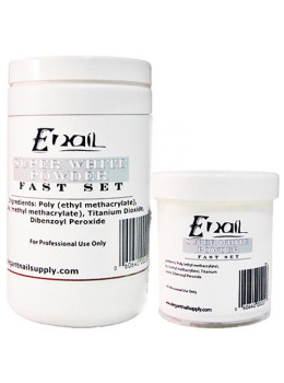 E-nail Supper White Fast Set Acrylic Powder