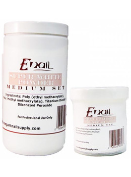 E-Nail Supper White Acrylic Powder Medium Set