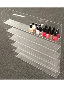 Plastic Polish Wall Rack Double Bottles Flat Top