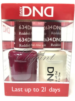 DND Gel Polish REDDISH PURPLE 634