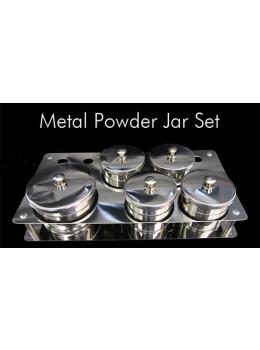 5pcs Stainless Steel Metal Powder Jar Set
