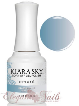 Kiara Sky Ombre Color Changing Gel Polish GLASS SLIPPERS - G801