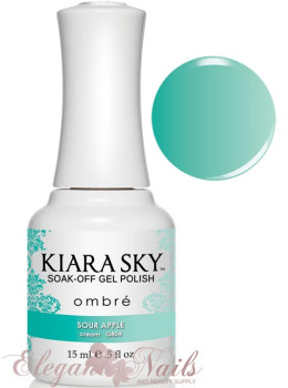 Kiara Sky Ombre Color Changing Gel Polish SOUR APPLE - G804