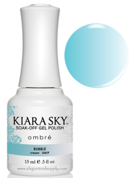 Kiara Sky Ombre Color Changing Gel Polish  BUBBLE - G829