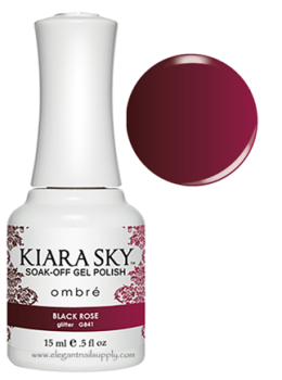 Kiara Sky Ombre Color Changing Gel Polish  BLACK ROSE - G841