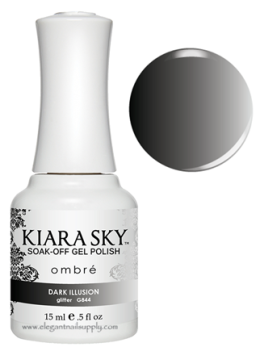 Kiara Sky Ombre Color Changing Gel Polish  DARK ILLUSION - G844