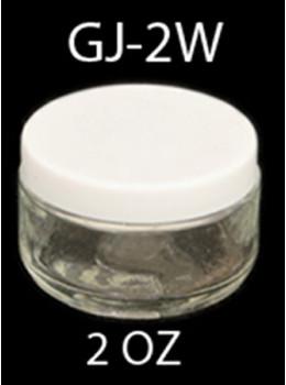 GJ-2W Clear Glass Jar wide mouth with Lids - 2 OZ