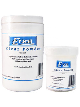 E-Nail Clear Fast Set Acrylic Powder