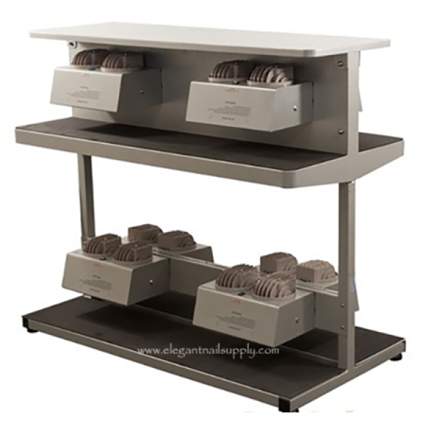 4 Person Nail Drying Station with Shelf
