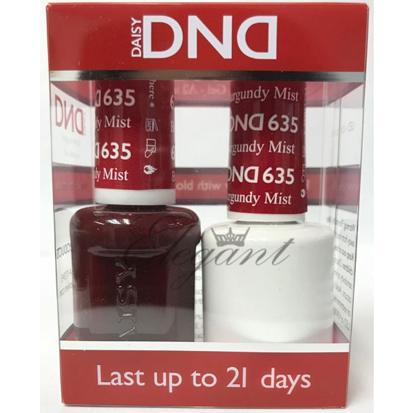 Dnd Gel Polish Burgundy Mist 635