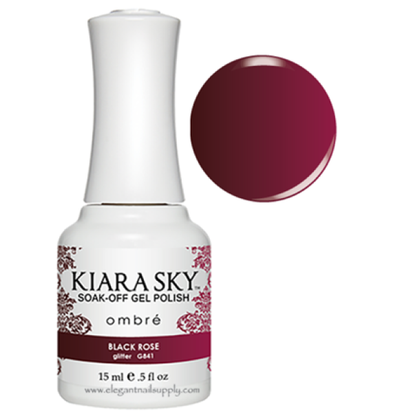 Kiara Sky Ombre Color Changing Gel Polish BLACK ROSE