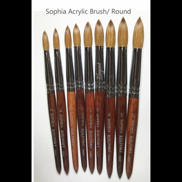 Red Wood Kolinsky Acrylic Nail Powder Brush