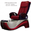 Z450 Chair Leather Burgundy_Base Color Warm Silver/Red
